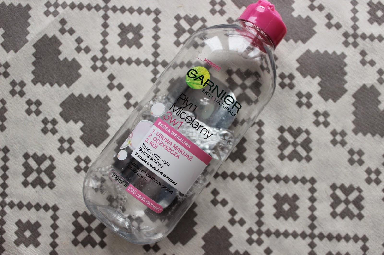 garnier różowy płyn micelarny do skóry wrażliwej opinia recenzja skóra trądzikowa 4