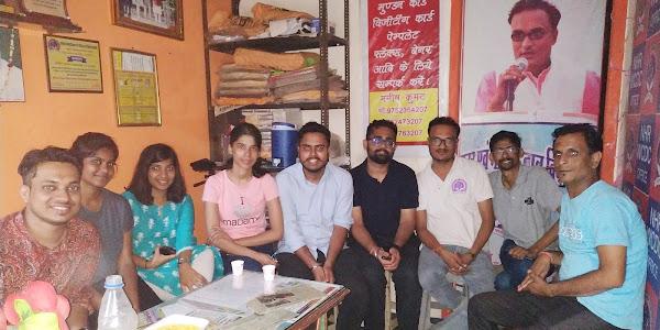 लाल बहादुर शास्त्री इंस्टीट्यूट मेनेजमेंट दिल्ली से छात्र-छात्राएं शिवगंगा के माध्यम से पहुंचे झाबुआ