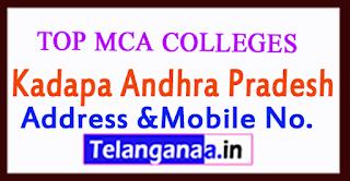 Top MCA Colleges in Kadapa Andhra Pradesh