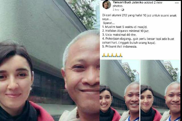 Viral Seorang Bapak Cari Jodoh untuk Anaknya yang Cantik, Syaratnya Bikin Alumni 212 Berbunga-bunga....