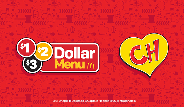 Menus de McDonald's del Chapulin Colorado. Menu dollar con jjuegute del Chapulin Colorado McDonald's