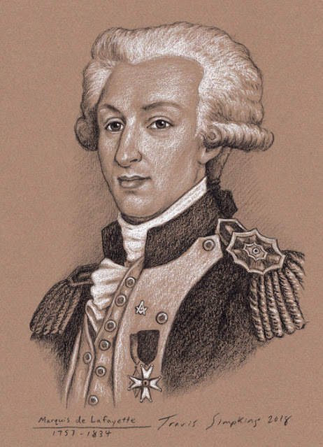 Marquis de Lafayette. French Aristocrat, Military Officer and Freemason. by Travis Simpkins