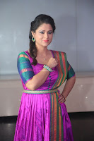 Shilpa Chakravarthy in Purple tight Ethnic Dress ~  Exclusive Celebrities Galleries 033.JPG