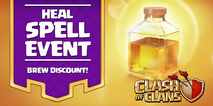 Heal Spell Event sedang berlangsung clasher!
