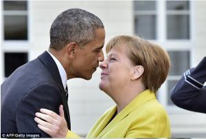 Daawo:- wacdarihii dhex maray Brack Obama iyo Merkel iyo sawirro cajiib ah oo muujinaya