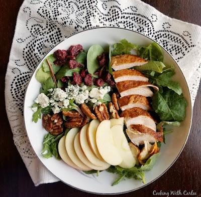 big bowl of fall dinner salad