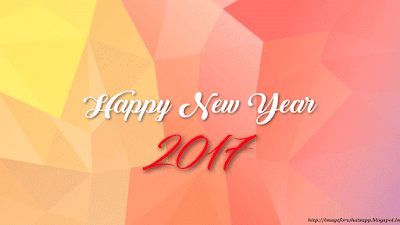 2017 New Year greetings images for whatsapp