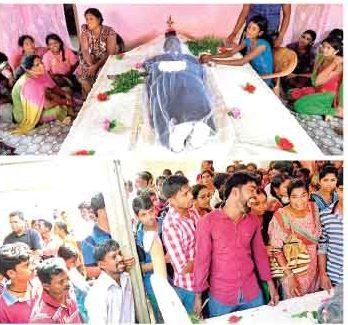 Jaffna University student's funeral
