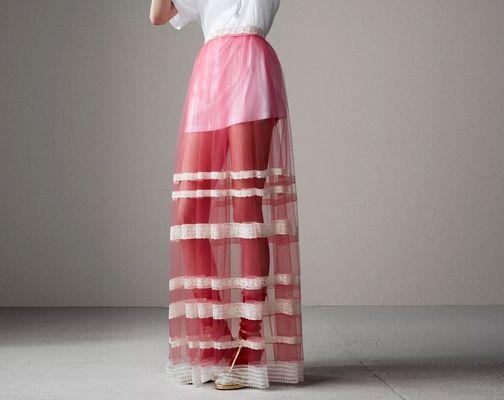 Maxi jupe revisitée, Burberry - Quelle longueur de jupe choisir ? - Blog Mode