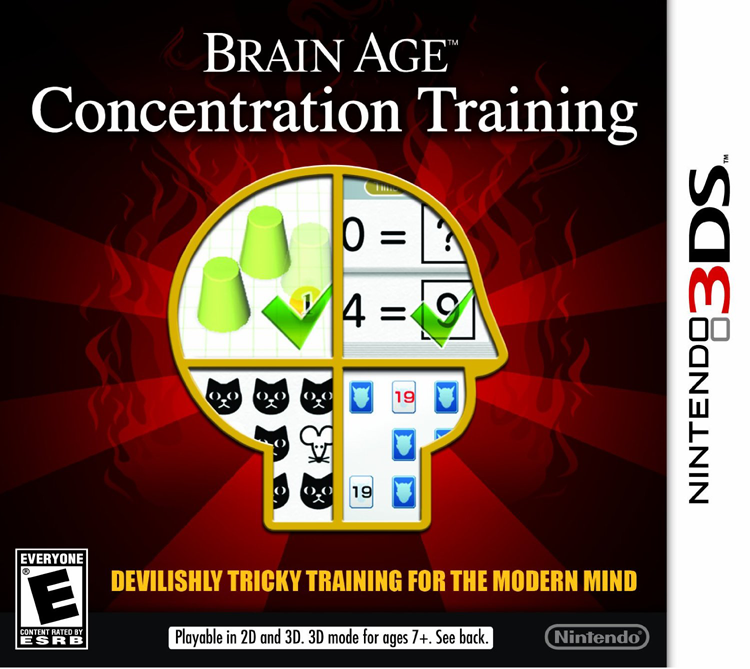 3DS Brain Age Concentration Training Cover