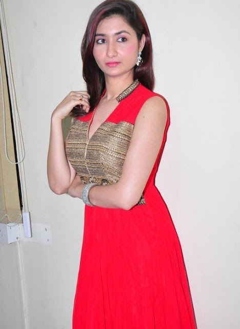 Harshada Patil Latest Hot Cleveage Spicy Red Sleveless Skirt PhotoShoot Images