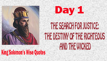 Destiny of the righteous and the wicked