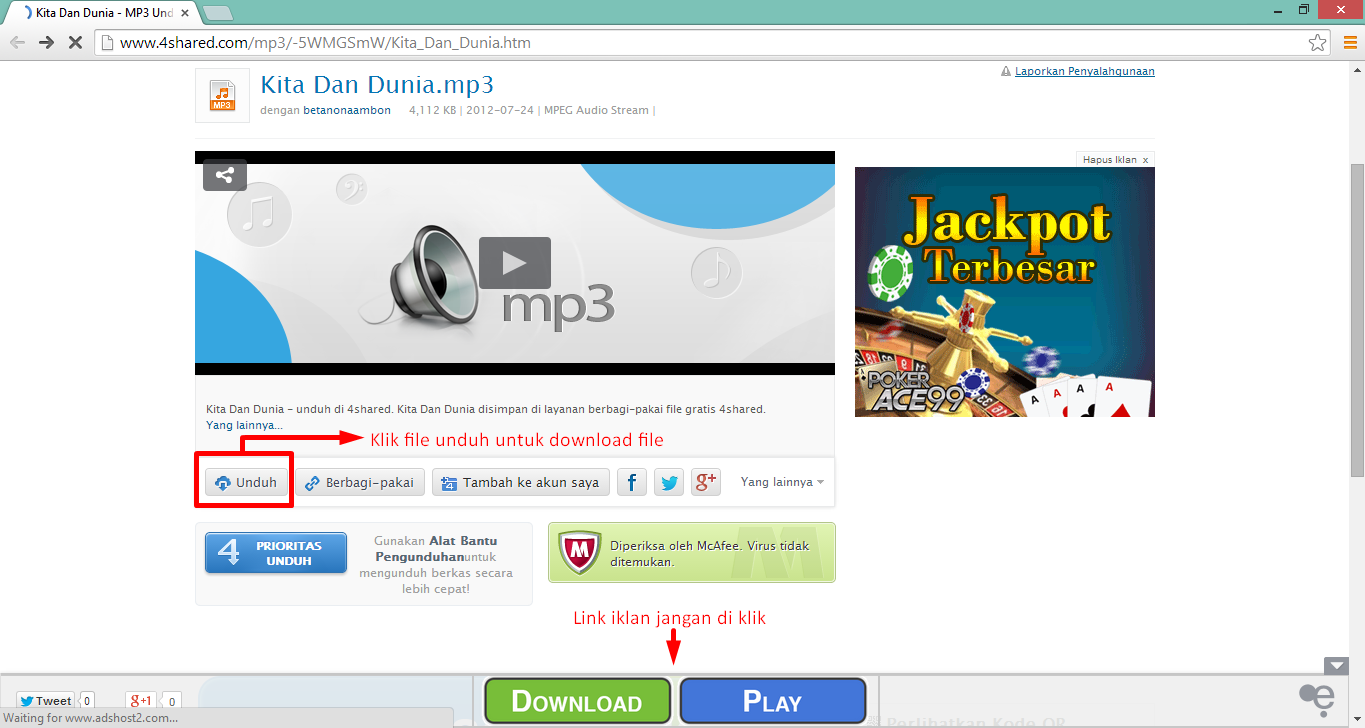 Cara Download File di 4shared.com 3