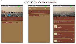 Baru BBM MOD CHAT ME - Born To Brown Apk v3.3.4.48