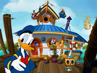 Donald Duck's boat house