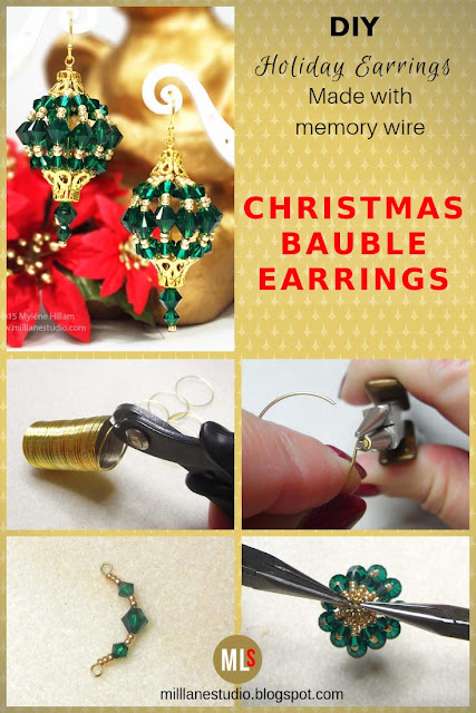 Step by Step inspiration sheet for how to make bauble earrings.
