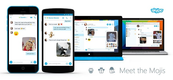 Skype update brings Mojis to Android, iOS, Mac and Windows