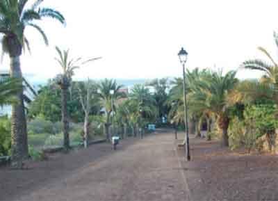Zona de la Sortija, en el parque del Taoro de Puerto de la Cruz