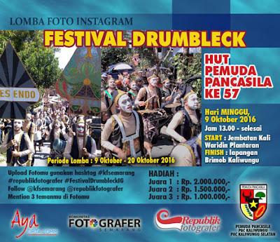 Lomba Foto Instagram Festival Drumbleck - Kaliwungu