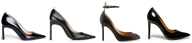 One of these pairs of black pumps is from Steve Madden on sale for $80 (regular $100) and the other three are from designers for to $845 to $920. Can you guess which one is the more affordable pair? Click the links below to see if you are correct!