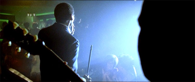 Sam Cooke performs to cheerful audiences in Michael Mann's Ali.