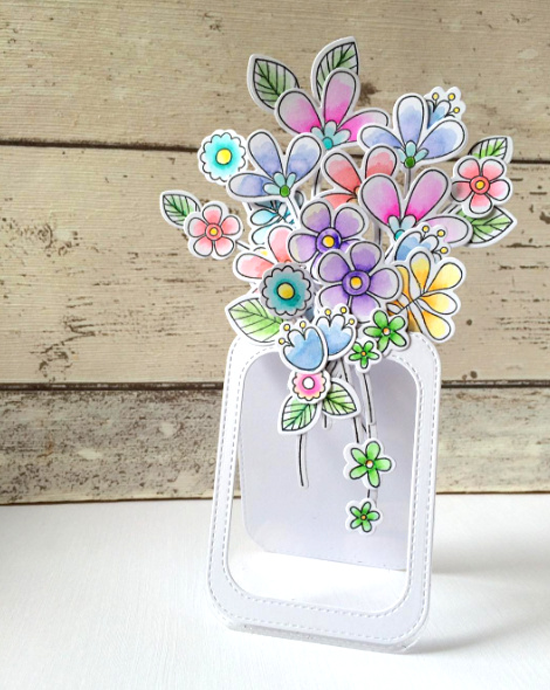 Build-able Bouquet stamp set and Die-namcis - Keren Baker #mftstamps