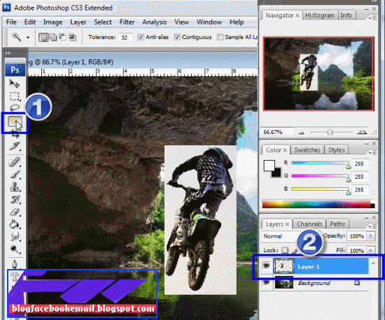 Cara Menumpuk Gambar Di Photoshop Teknoid