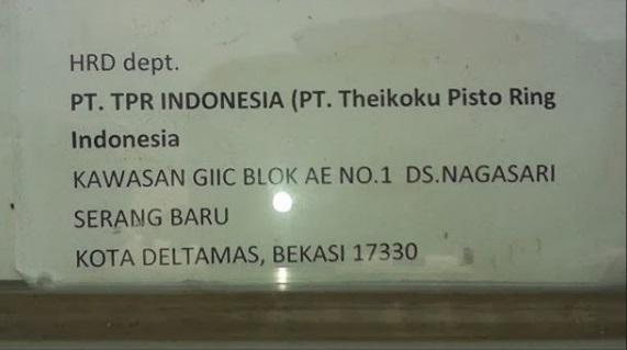 Lowongan Kerja Kawasan GIIC Cikarang [PT.Theikoku Piston Ring Indonesia]