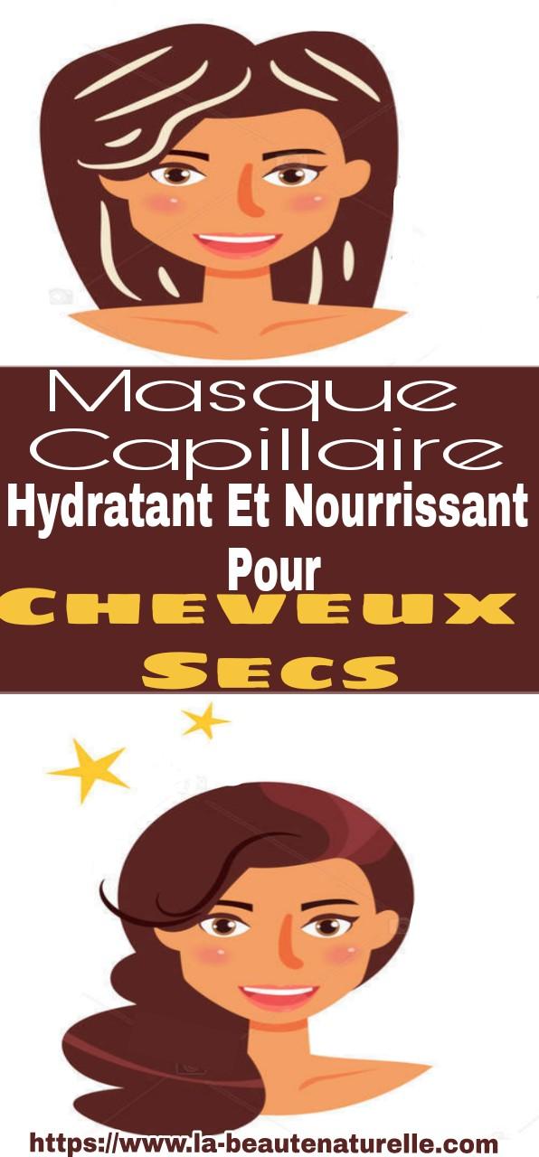 Masque capillaire hydratant et nourrissant pour cheveux secs