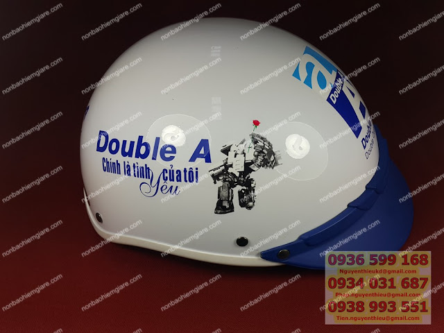 Cơ sở sản xuất mũ bảo hiểm in logo công ty giá rẻ theo yêu cầu, mũ bảo hiểm quảng cáo thương hiệu