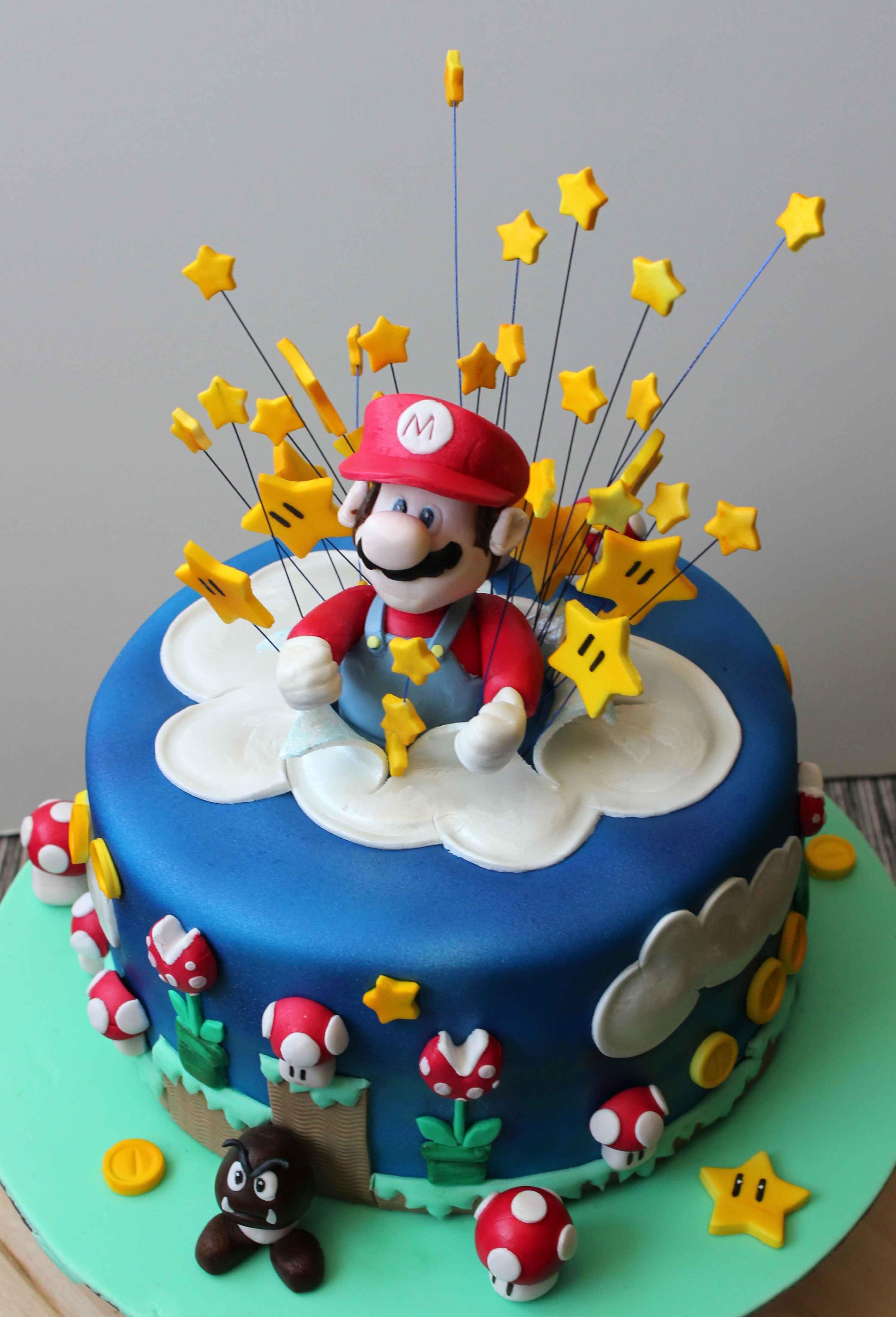 Mario Brothers  Birthday Cake