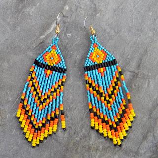 яркие бисерные украшения в индейском стиле купить в интернет магазине с доставкой почтой россии