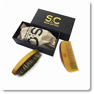 11 Beard Brush and Comb For Men by Stone and Clark