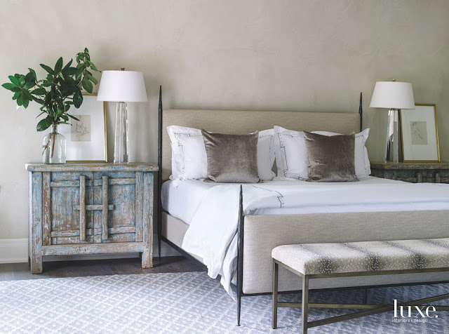 Provence style French chateau luxurious bedroom in Houston - found on Hello Lovely Studio