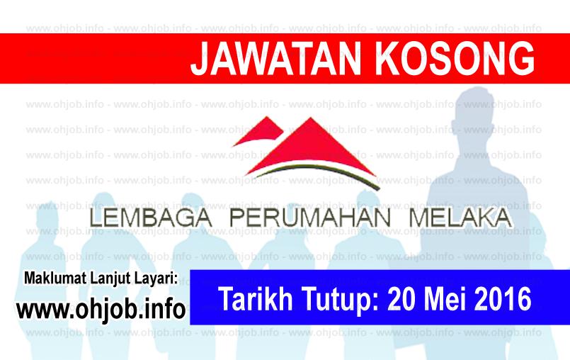 Jawatan Kerja Kosong Lembaga Perumahan Melaka (LPNM) logo www.ohjob.info mei 2016