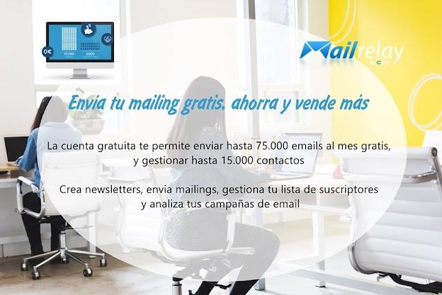 Mailrelay, nueva versión de la plataforma de Email Marketing con hasta 75.000 mails/mes en su cuenta gratuita