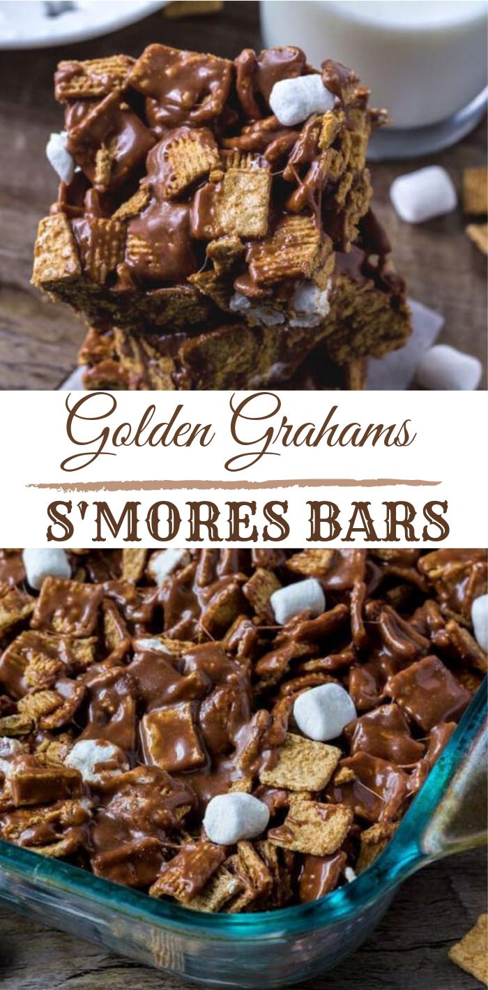 Golden Grahams S'mores Bars #bars #cakes