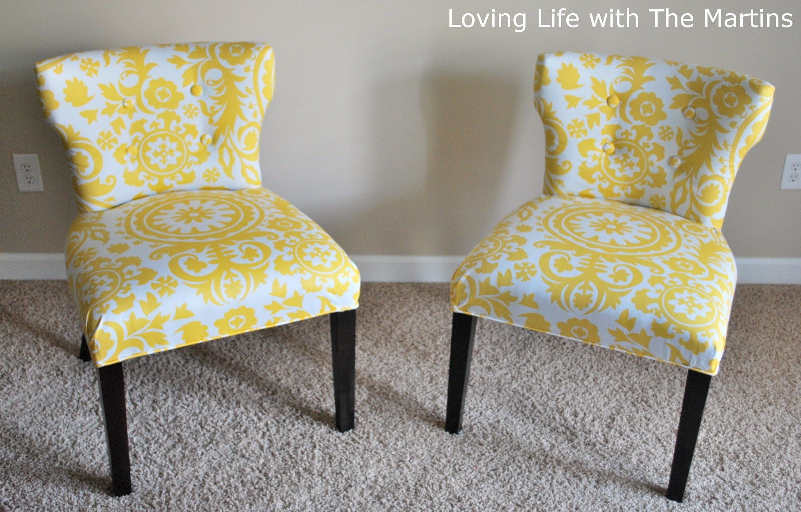 Reupholstering A Chair Grey Accent Loving Life With The Martins How To Reupholster