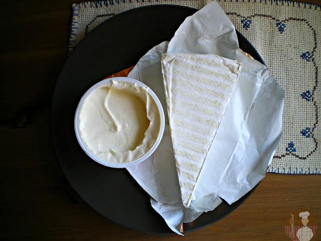 Queso brie y crema de camembert