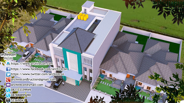 Desain Sekolah Tahfidz Qur'an - Tampak Bangunan