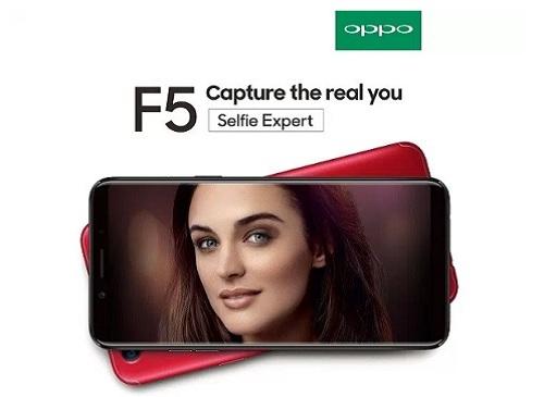 جوال اوبو Oppo F5 بكاميرا أمامية مزدوجة 12 ميغابيكسل
