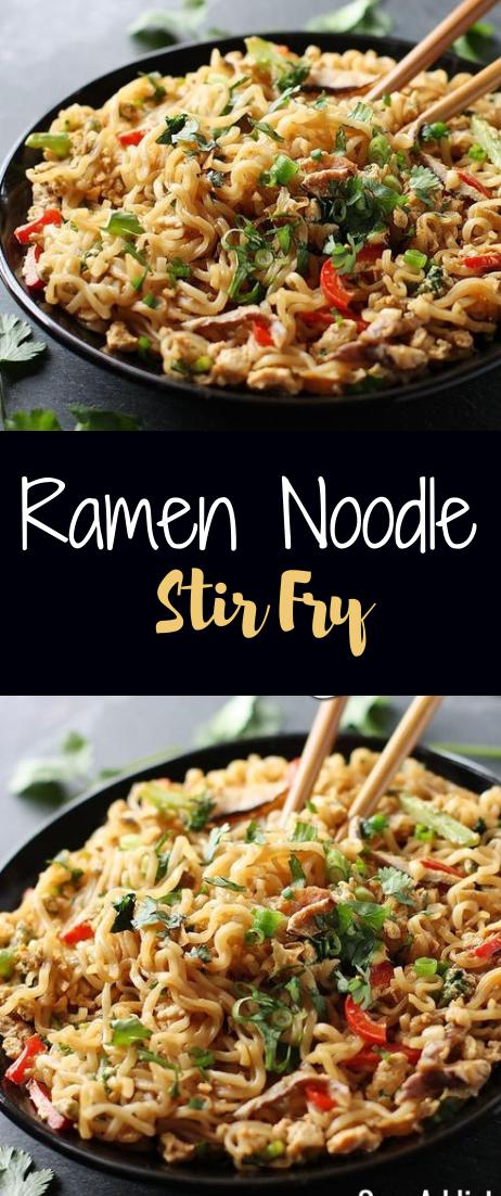 Ramen Noodle Stir Fry #dinner #ramennoodle
