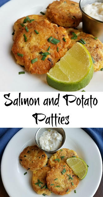 These salmon patties have potato in them rather than bread or cracker crumbs, making the texture and flavor fabulous. You have to give them a try!