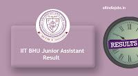 IIT BHU Junior Assistant Result