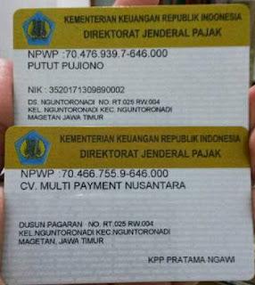 NPWP CV. Multi Payment Nusantara