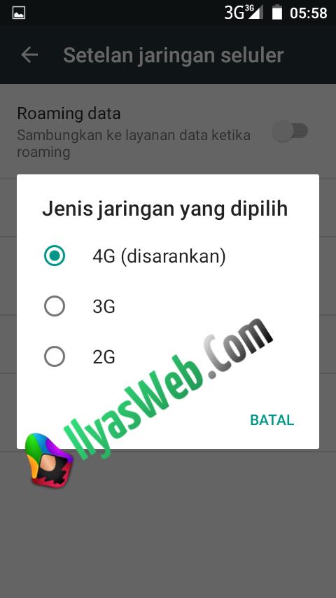 Cara Mengubah Jaringan 3G Ke 4G ~ 4