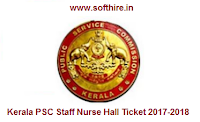 Kerala PSC Staff Nurse Hall Ticket