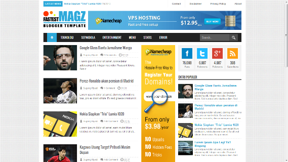 Fastest Magz V3 Blogger Template [Removed]