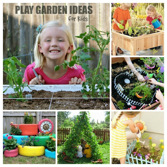 40 awesome play garden ideas for kids- these are SO FUN!