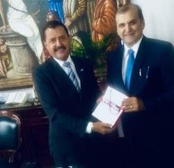 O vice presidente da FIEMA Cláudio Azevedo faz visita de cortesia ao presidente do Tribunal de Justiça do Maranhão